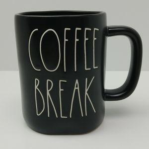 Rae Dunn Coffee Break Black Oversized Mug